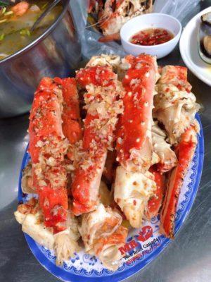 món ngon chân cua king crab